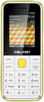 Celkon Dual Sim White & Yellow
