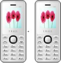 I KALL 1.8 Inch Dual Sim Multimedia Set Of Two Mobile(K-66) With Bluetooth-white (White)