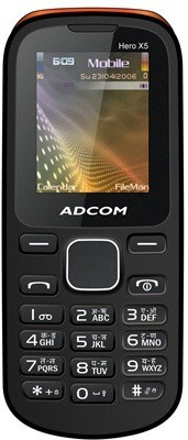 Adcom X5 Dual Sim Mobile-Black & Orange (Black, Orange)