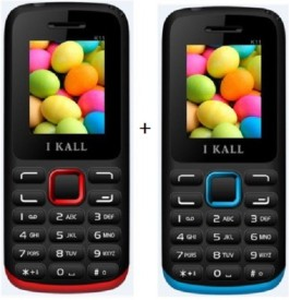 I KALL 1.8Inch Dual Sim Multimedia Set Of Two(K11RED+K11BLUE) Mobile (Red, Blue)