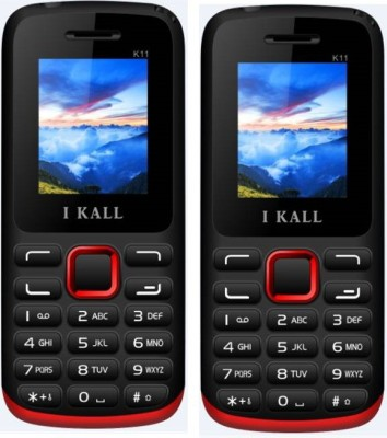 i KALL 1.8 inch Dual Sim Multimedia Set of two Mobile with bluetooth red