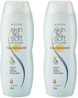 Avon Soft & White Protect & Enhance Whitening Hand & Body Lotion (250 Ml Each) Set Of 2 (500 Ml)