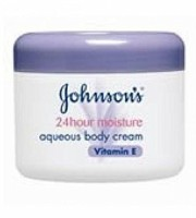 Baby Bucket Johnsons Body Care 24hour Aqueous Cream 350ml - Vitamin E (350 Ml)