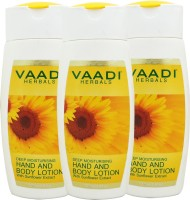 VAADI HERBALS Hand & Body Lotion With Sunflower Extract Pack Of 3 (110 Ml)