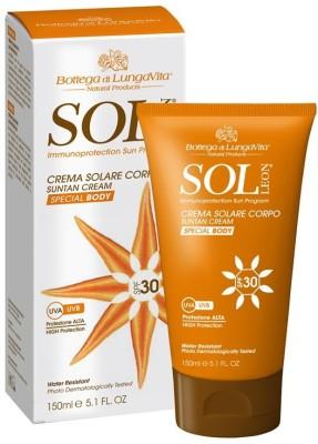 Bottega Di Lungavita Suntan Cream Body SPF 30 (150 Ml)