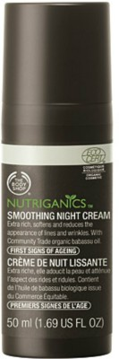 The Body Shop Nutriganics Smoothing Night Cream - 50 Ml