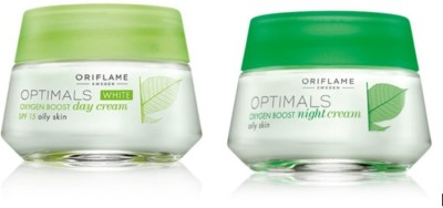 Oriflame Sweden Optimals White Oxygen Boost Day And Night Cream OILY Skin (50 G)