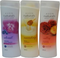 Avon Naturals Body Care Vibrant & Nourishing & Suttury Hand & Body Lotion (Set Of 3) (600 Ml)
