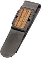Inox Jewelry SSMC14458 Stainless Steel, Wooden Money Clip (Jet Black)