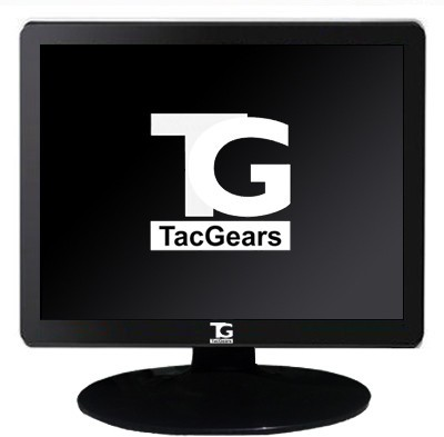 TacGears 15 inch LCD - TG-15-TFT  Monitor (Black & Gray)