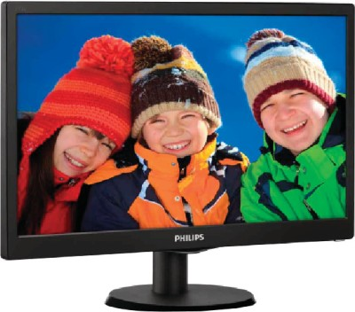 Philips 193V5LSB23 18.5 inch LED Backlit LCD Monitor (Black)