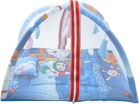 ROYAL SHRI OM BABY BEDDING SET WITH MOSQUITO NET& PLAYGYM Mosquito Net (BLUE)