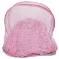 Chinmay Kids Pink Colored Butterfly Printed Cotton Padded Bed Net Mosquito Net (Multicolour)