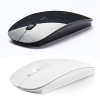 Outre 2.4Ghz Combo Ultra Slim Wireless Laser Mouse (USB, Black, White)