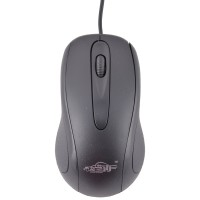 Ad Net AD-202 3D Wired Optical Mouse (USB, Black)