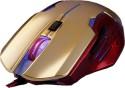 Marvo Scorpion RDE Emperor Wired Gaming Mouse With Mouse Pad Wired Optical Mouse Gaming Mouse (USB, Gold And Red)