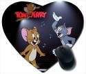 Awwsme Tom And Jerry Heart Mousepad (Multicolour)