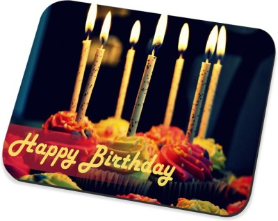 Amy Vintage Happy Birthday Cup Cake Mousepad