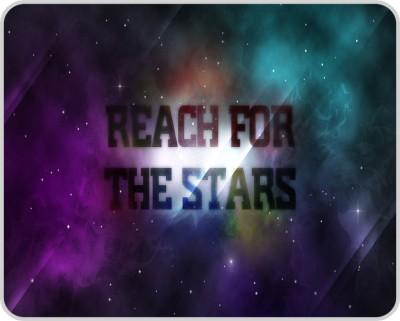 Shopkeeda Reach for the Stars Mousepad Multicolor