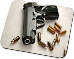 Pools Pools Bullet And Gun Mousepad