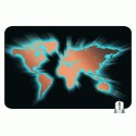 Headturnerz Neon World Map Mousepad - Multicolor