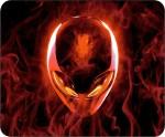 Headturnerz Alienware Skull In Flames Mousepad