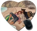 Awwsme Botman And Fish Girl Near By Sea Heart Mousepad (Multi&Color)