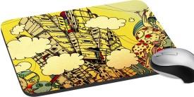 meSleep City Clouds Mousepad