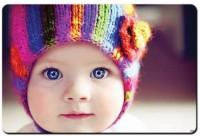 Shoprock Cute Baby Blue Eyes Mousepad (Multicolor)