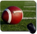 Awwsme Rugby Ball In The Mid Of The Field Mousepad (Multicolour)