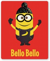 PosterGuy Bello Bello Despicable Me Inspired Minion Singh(Red) Funny Illustration Mousepad (Red)
