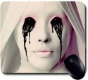 Awwsme A White Ghost Leaking Blood From Eye Mousepad (Multicolour)