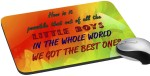 meSleep Rakhi Quotes Best Sister Mousepad