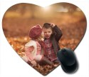 Awwsme Kissing Little Boy And Girl Heart Mousepad (Multicolour)