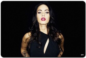 Shoprock Megan Fox Black Mousepad