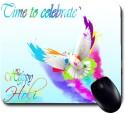 Awwsme Time To Celebrate Happy Holi Mousepad (Colorful)
