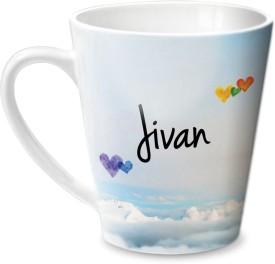 Hot Muggs Simply Love You Jivan Conical  Ceramic Mug