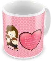 SS Decor Mother Is The Best Friend Printed Cute Coffee  507 Ceramic Mug (300 Ml)