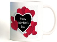 ShopMantra Heart Pattern Vector Design Mug (White, Pack Of 1)