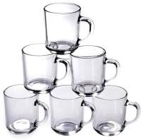 BlinkMax KTZB24 Glass Mug (240 Ml, Pack Of 6)