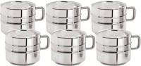 Aagam Regular 2 Ring Tea  Stainless Steel Mug (80 Ml, Pack Of 6)