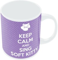 PosterGuy Keep Calm And Sing Soft Kitty Mug (White, Pack Of 1)