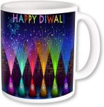 PhotogiftsIndia Plates & Tableware PhotogiftsIndia Colorful Crackers With Happy Diwali Coffee Ceramic Mug