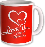 Photogiftsindia Love You Happy Valentine Coffee Mug (White, Pack Of 1)