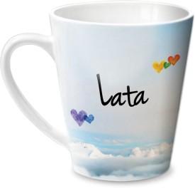 Hot Muggs Simply Love You Lata Conical  Ceramic Mug
