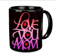 Jira Creation1 LOVE You Mom In Hearts Multicolor Ceramic Mug (3.5 Ml)