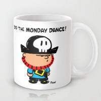 Astrode Do The Monday Dance Ceramic Mug (325 Ml)