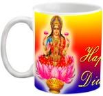 EFW Cups & Mugs EFW Happy Diwali Maa Laxmi Printed Coffee Ceramic Mug