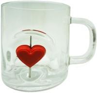 Tuelip GP-3D-CGM-Heart-2102 Glass Mug (300 Ml)