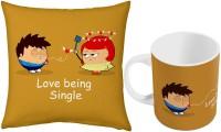 Home India Fancy Designer Coffee  N Filled Cushion Pair 422 Ceramic Mug (300 Ml, Pack Of 2)
